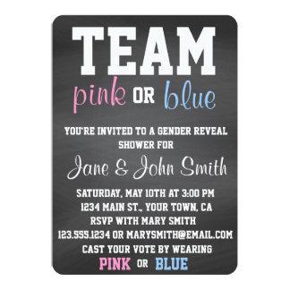 "Team Blue or Pink Gender Reveal Invitation 5"" X 7"" Invitation Card"