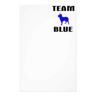 Team Blue Customized Stationery