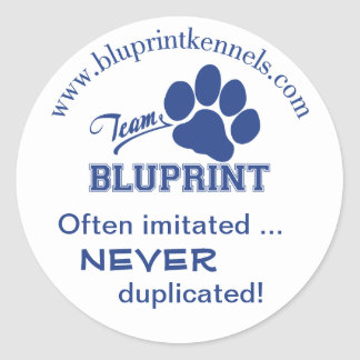 Team BluPrint Sticker: Often Imitated Never Dup... Classic Round Sticker