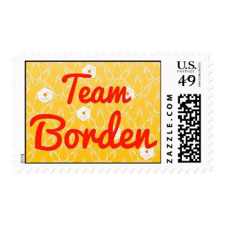 Team Borden Postage Stamps