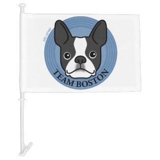 Team Boston - Terrier Puppy Dog Car Flag