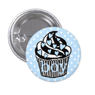 Team Boy-Baby Shower Pinback Button