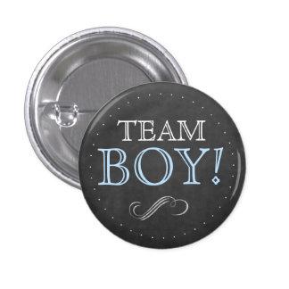 Team Boy Blue Baby Shower Small 1 Inch Round Button