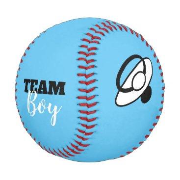 Team Boy Gender Reveal Baseball
