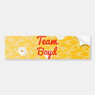 Team Boyd Car Bumper Sticker