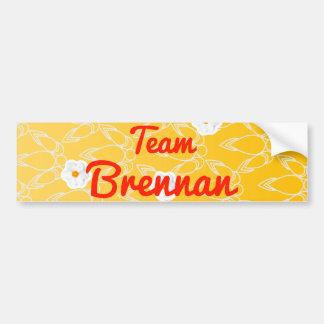 Team Brennan Car Bumper Sticker