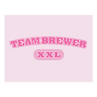 Team Brewer Pink XXL Postcard