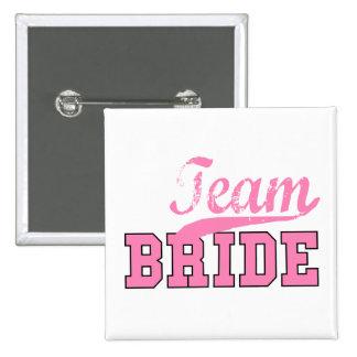 Team Bride 1 2 Inch Square Button