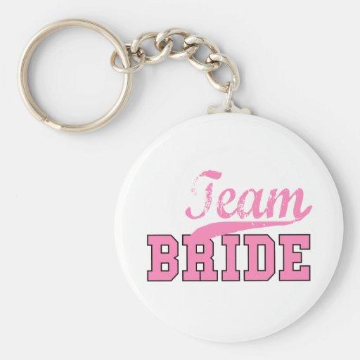 Team Bride 1 Basic Round Button Keychain