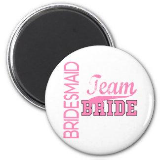 Team Bride 1 BRIDESMAID Fridge Magnet