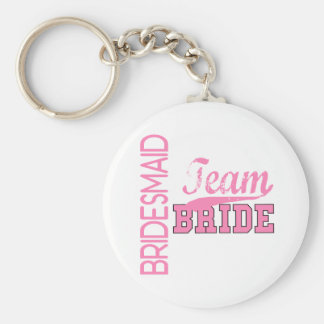 Team Bride 1 BRIDESMAID Keychain