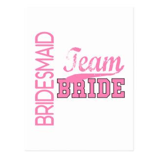 Team Bride 1 BRIDESMAID Postcard