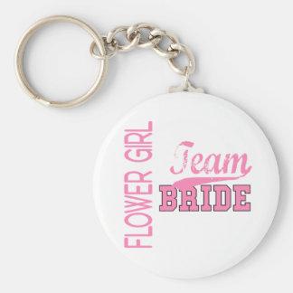 Team Bride 1 FLOWER GIRL Key Chains