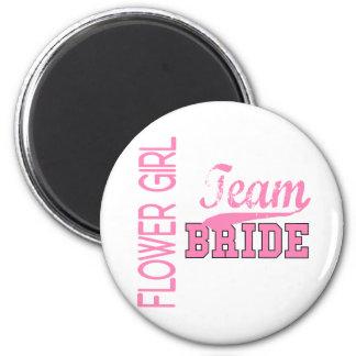 Team Bride 1 FLOWER GIRL Refrigerator Magnet