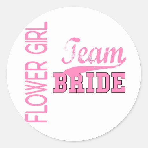 Team Bride 1 FLOWER GIRL Stickers