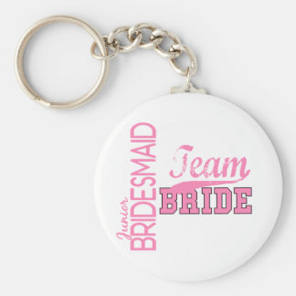 Team Bride 1 JUNIOR JR BRIDESMAID Keychain