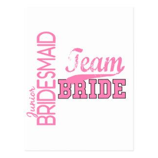 Team Bride 1 JUNIOR JR BRIDESMAID Postcard