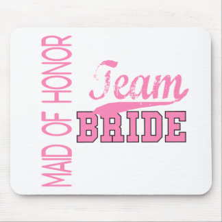 Team Bride 1 MAID OF HONOR Mouse Mat