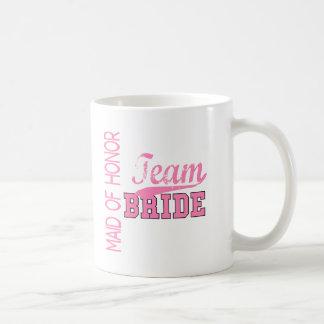 Team Bride 1 MAID OF HONOR Mug