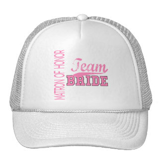 Team Bride 1 MATRON OF HONOR Trucker Hat