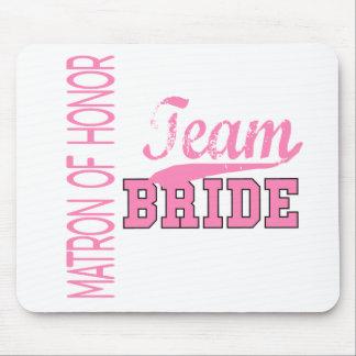 Team Bride 1 MATRON OF HONOR Mouse Mats