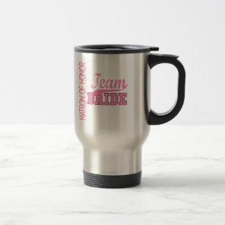 Team Bride 1 MATRON OF HONOR Coffee Mugs