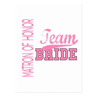 Team Bride 1 MATRON OF HONOR Postcard
