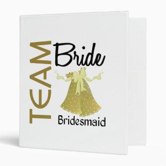 Team Bride 2 Bridesmaid 3 Ring Binder