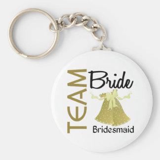 Team Bride 2 Bridesmaid Key Chain