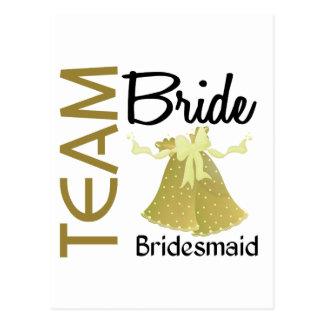 Team Bride 2 Bridesmaid Postcard