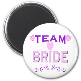 Team Bride 2 Inch Round Magnet