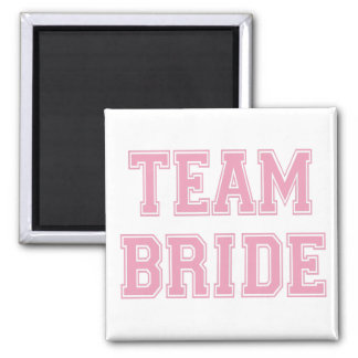 Team Bride 2 Inch Square Magnet