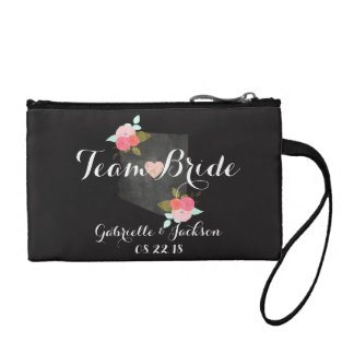 Team Bride Arizona State Wedding Floral Bridesmaid Coin Purse