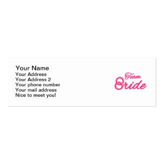 Team Bride Bachelorette Party Business Cards