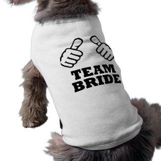 Team bride bachelorette party doggie t-shirt