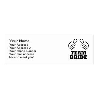 Team bride bachelorette party mini business card