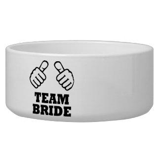 Team bride bachelorette party pet water bowl