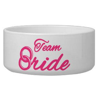 Team Bride Bachelorette Party Dog Food Bowl