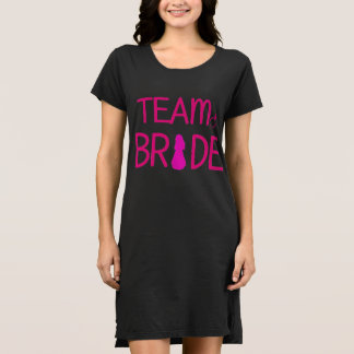 Team Bride - Bachelorette Party Shirt Dress