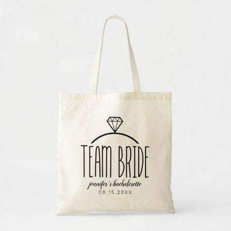 Team Bride Bachelorette Tote Bag