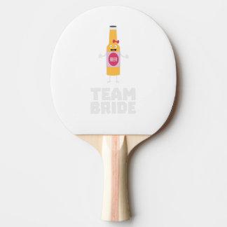 Team Bride Beerbottle Z5s42 Ping Pong Paddle