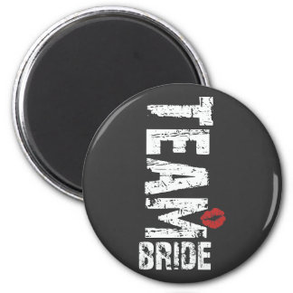 Team Bride Big Grunge Text Magnet