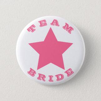TEAM BRIDE   Big Hot Pink Star Button