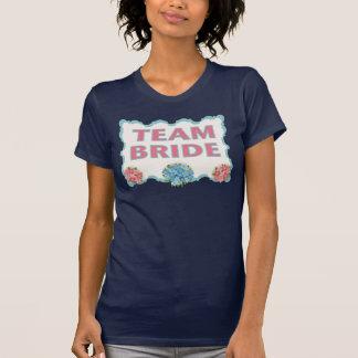 Team Bride (blue floral) T-Shirt