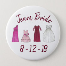 TEAM BRIDE Bridal Party Bridesmaid Flowergirl Gown Button