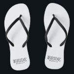"""Team Bride Bridesmaid Bridal Party Flip Flops<br><div class=""""desc"""">Personalize the custom text  above. You can find additional coordinating items in our """"For Team Bride"""" collection.</div>"""