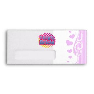 Team Bride Bridesmaids bachelorette wedding party Envelopes