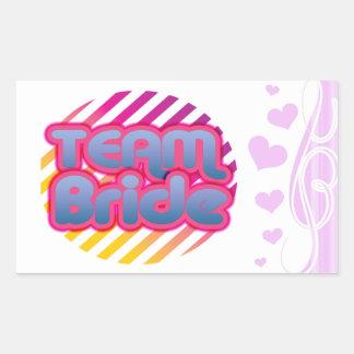 Team Bride Bridesmaids bachelorette wedding party Rectangular Sticker
