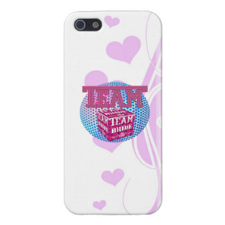 team bride bridesmaids wedding bridal party pink case for iPhone 5