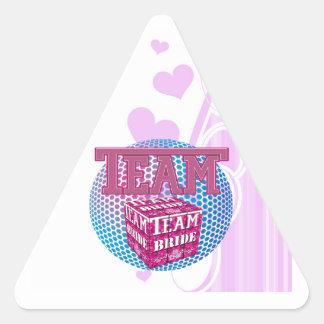 team bride bridesmaids wedding bridal party pink sticker